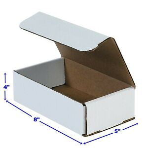 8 X 5 X 4 Small White Cardboard Packaging Mailing Shipping 50 Boxes 8 X 5 X 4