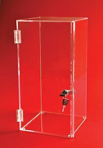 Locking Display Case 20 H X 14 w X 12 d No Inside Shelves Square Case