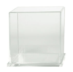 Box Case Display 6 X 6 X 6 With Clear Acrylic Base 5 Sided Cube With Base