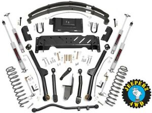 Jeep Xj Cherokee 4 5 Long Arm Suspension Lift Kit W Leaf Springs 68622 61722