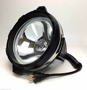 Marine Boat Rv 12v 55w Spot Light Halogen Beam Oem With Plug And Socket