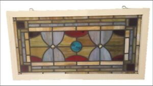 Vintage French Stained Glass Circa 1940 S