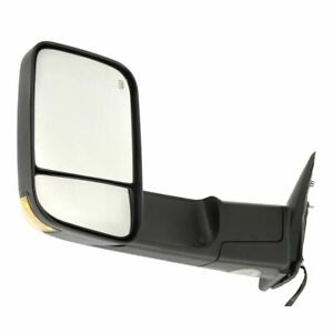 New Driver Side Power Heated Smoked Signal Towing Mirror For Dodge Ram 2009 2012