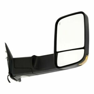 New Passenger Side Power Heated Smoked Signal Tow Mirror For Dodge Ram 2009 2012