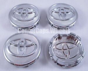 Set Of 2006 2019 Toyota Corolla Yaris And Prius 57mm 2 25 Chrome Center Caps