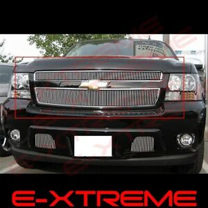 For Chevy Avalanche Tahoe Suburban 2007 2014 Upper Vertical Billet Grille