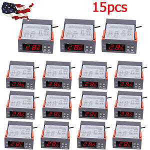 10a 220v Digital Temperature Controller Sensor Thermostat Control Relay Lot 15