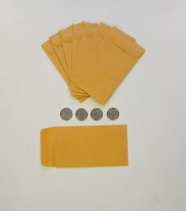 1500 New Kraft Coin Change Envelopes 5 Size 3 125 By 5 5 With Gummed Flap