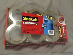 Scotch Packaging Tape 1 88 Inches X 54 6 Yards 12 pack 3850 12 dp3