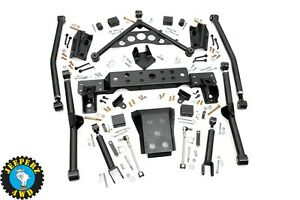 99 04 Jeep Wj Grand Cherokee 4 Long Arm Upgrade Kit 90900u same Day Shipping