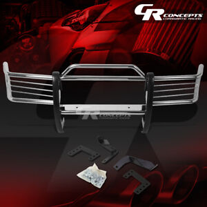 Chrome Stainless Bumper Grille grill Guard Kit For 93 98 Jeep Grand Cherokee Zj