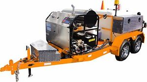 Sewer Jetter Trailer Mounted Tandem Axle Hot Water Orange Or You Pick Color