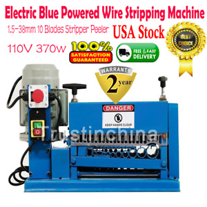 Powered Wire Stripping Machine 1 5 38mm 10 Blades Stripper Peeler Metal Cable