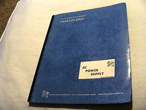 Tektronix 016 0072 00 Ac Power Supply For 422 Scope Instruction Service Manual
