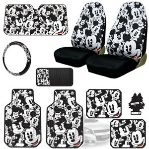 New Mickey Mouse 10pc Car Seat Covers Floor Mats And Accesories Set For Jeep