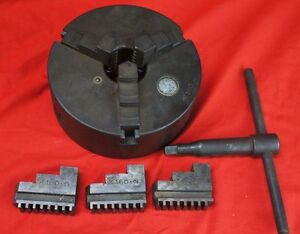 K160 160mm 3 Jaw Lathe Self Centering Chuck W Extra Jaws And Wrench 6 25 Japan