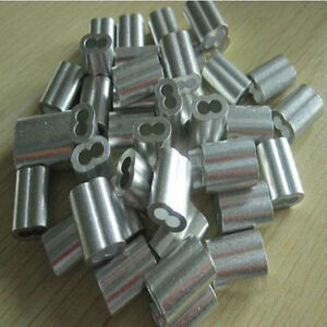 Aluminum Swage Sleeves For 3 16 Wire Rope Cable 50 100 200 500 And 1000 Pcs
