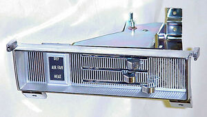 1967 1968 1969 1970 1971 1972 Chrome Heater Control Face Plate Chevy Gmc Truck