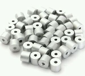 Aluminum Swage Stops For 1 8 Wire Rope Cable 100 200 500 And 1000 Pcs
