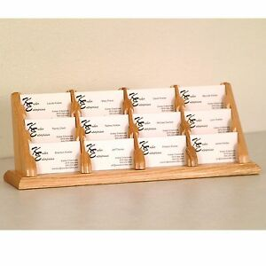 Oak Wood Business Card Holder 12 Pocket Business Card Holder Doctor Law Office