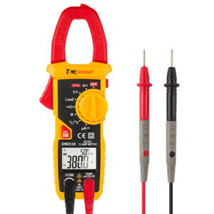 600v Digital Clamp Meter Multimeter Ac dc Volt Amps Ohm Current Tester