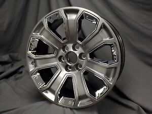 Set Of 4 2014 2018 Chevrolet Gmc Cadillac Oem 22 Wheels Silver