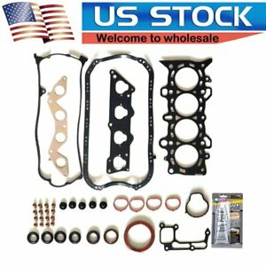For 2001 2005 Honda Civic Vtec Ex Hx 1 7l Mls Head Gasket Set D17a2 D17a6 Sohc