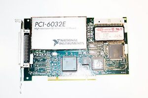 National Instruments Pci 6032e High Resolution Multifunction Io Board 183742c 02