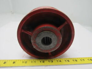 6 Cast Iron V Groove Caster Wheel W bearing 1 Id 3 1 2 Bearing Width