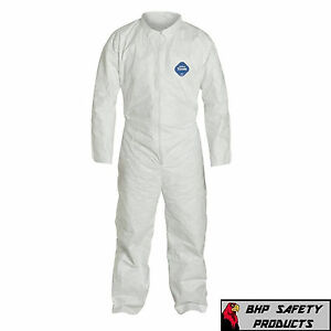 Dupont Ty120s White Tyvek Coverall With Collar Zipper Bunny Suit Size M 4xl
