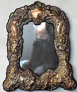 Antique Angels Cherubs Sterling Silver Picture Photo Frame Signed Jr
