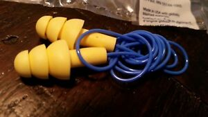3m 1270 Soft Silicone Corded Reusable Ear Plugs Hearing Protection Nrr 24db Ppe