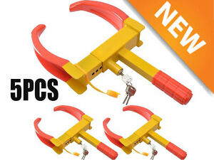 5pcs Wheel Lock Clamp Boot Tire Claw Auto Car Truck Rv Boat Anti Theft Towing Ht