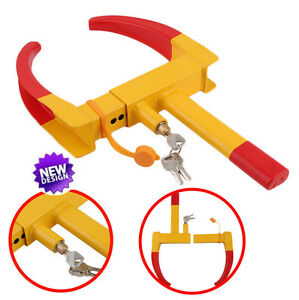 Wheel Lock Clamp Boot Tire Claw Trailer Auto Car Truck Anti Theft Towing New H1