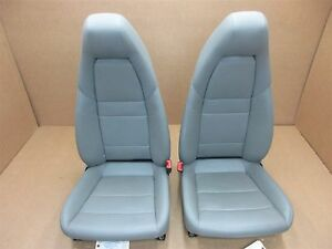 11 Panamera 4 Awd 970 Porsche Left Right Front Gray Leather 8 way Seats 79 843