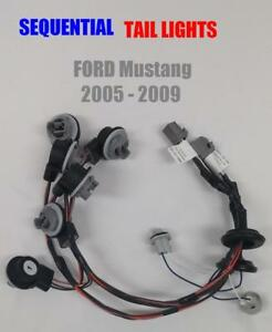 2005 2009 Ford Mustang Sequential Tail Light Harnesses Plug And Play 1 Set