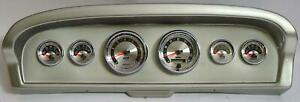 61 66 Ford Truck Silver Dash Carrier W Auto Meter American Muscle Gauges