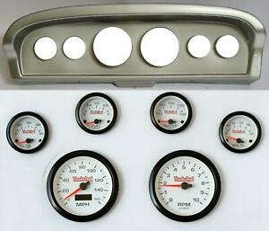 61 66 Ford Truck Silver Dash Carrier Concourse White Face Gauges