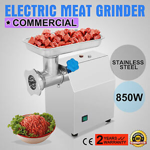 Stainless Commercial Meat Grinder 12 850w 4 5lbs min 2 Blades Butcher Shop
