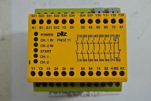 Pilz Pnoz11110vac 24vdc 7s10 Pnoz 11 Safety Relay