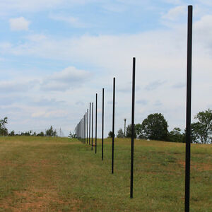 10 Deer Fence Heavy Line Posts Galvanized Pvc Coated Steel 30 Pack