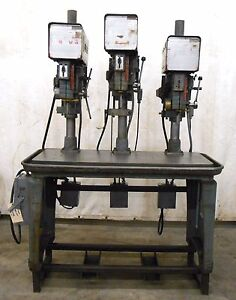 Powermatic Model 1150 15 Varialbe 3 Head Drill Press 2 Hp 1725 Rpm