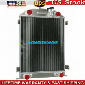 3 Row Core Aluminum Radiator For 32 Ford Flathead Engine V8 1932 Stock Height
