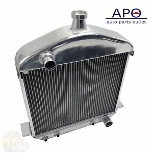 New Racing Radiator Aluminum For 1917 1927 Ford T Bucket 2 Row Model T