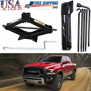 For 2002 2015 Dodge Ram 1500 Spare Tire Lug Wrench Tool 2 Tonne Scissor Jack