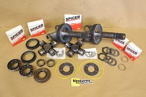 Ford F250 F350 Dana 50 Front Axle Shaft Greasable U joint Bearing Seal Kit 98 01
