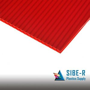 4 Pack 4mm Red 24 X 36 Corrugated Plastic Sheets Sign Vertical