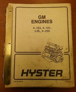 Hyster Forklift Manual Collection 899766 Gm Engines not All Pictured
