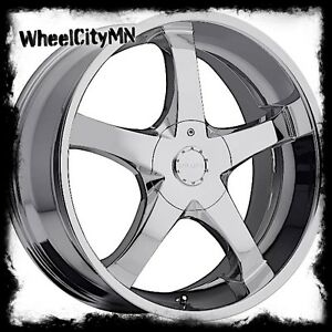 22 Inch Chrome Milanni 465 Vengeance Wheels Dodge Charger Challenger 300 5x115