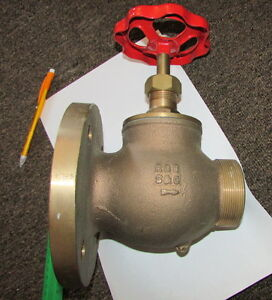 S c Brass 2 5 Flanged Fire Valve Rg5 7 1 2 Inch Plat With 3 Threaded Output